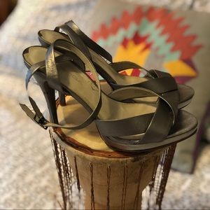 Via Spiga leather strapped heels